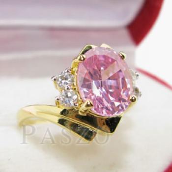 แหวนพลอยสีชมพู ประดับเพชร พิ้งค์โทพาซ #3