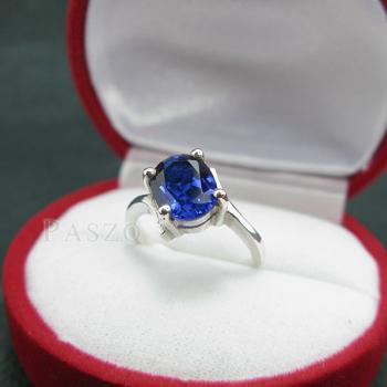 แหวนไพลิน แหวนเงิน พลอยไพลิน #3