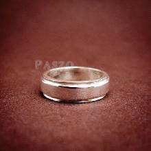 แหวนลดระดับขอบ หน้ากว้าง6มิล แหวนเงินแท้ แหวนเกลี้ยง