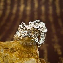 แหวนมังกร แหวนเงินแท้รูปมังกร แหวนปรับขนาดได้ ฟรีไซต์