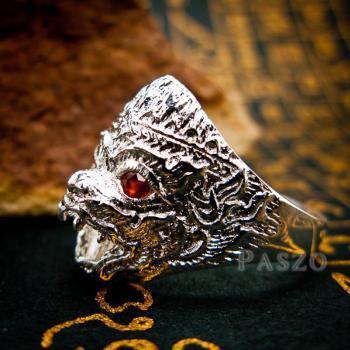 แหวนหนุมาน ฝังโกเมน พลอยสีแดงก่ำ #3