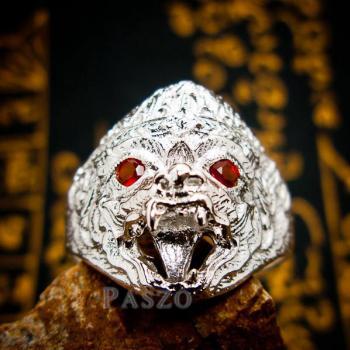 แหวนหนุมาน ฝังโกเมน พลอยสีแดงก่ำ #4