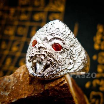 แหวนหนุมาน ฝังโกเมน พลอยสีแดงก่ำ #6