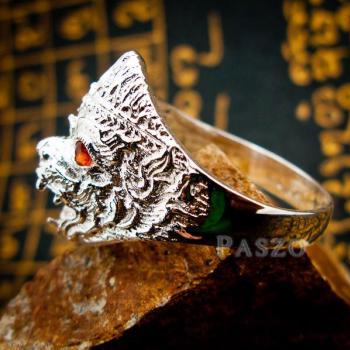 แหวนหนุมาน ฝังโกเมน พลอยสีแดงก่ำ #7