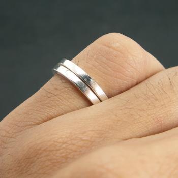 แหวนเงินเกลี้ยง หน้าเรียบ ขนาด #4