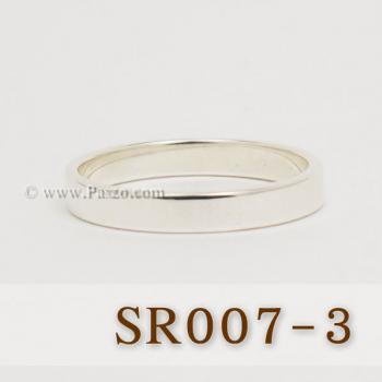 แหวนเกลี้ยงหน้าเรียบ กว้าง3มิล แหวนเงินแท้ #4