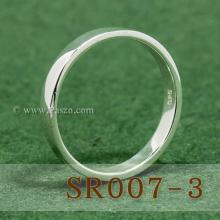 แหวนเกลี้ยงหน้าเรียบ กว้าง3มิล แหวนเงินแท้ 925 แหวนปลอกมีด แหวนเงินเกลี้ยง