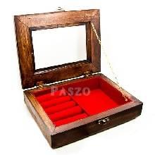 กล่องเก็บเครื่องประดับหลายชิ้น กล่องไม้ ฝาเป็นกระจก มีตัวล็อค
