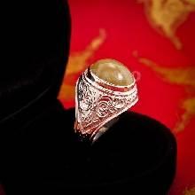 แหวนไพฑูรย์ แหวนผู้ชายเงินแท้ แหวนมอญ แกะลายไทย แหวนผู้ชาย