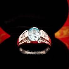 แหวนแห่งแสง แหวนพลอยอะความารีน แหวนผู้ชาย แหวนผู้ชายเงินแท้