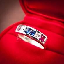 แหวนแถว แหวนเงินแท้ ธงชาติไทย