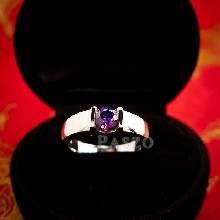 แหวนพลอยอะเมทิสต์ สีม่วง แหวนเงิน ฝังพลอยสีม่วง อะเมทิสต์