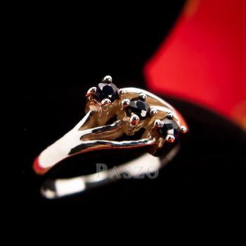 แหวนเงิน พลอยนิล  #2