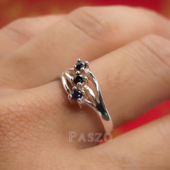 แหวนเงิน พลอยนิล  #4