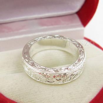 แหวนแกะลายทั้งวง หน้ากว้าง5มิล แกะสลักลายไทย #7