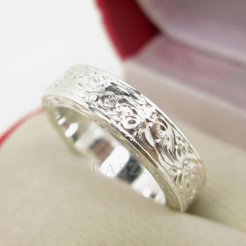 แหวนแกะลายทั้งวง หน้ากว้าง5มิล แกะสลักลายไทย #4