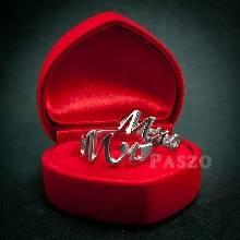 แหวนคู่ Mr และ Mrs  แหวนเงินคู่ชุบทองคำขาว  แหวนตัวอักษร
