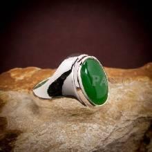 แหวนหยก แหวนเงินผู้ชาย แหวนเงิน แหวนมอญ ฝังหยก แหวนผู้ชาย แหวนหยกผู้ชาย