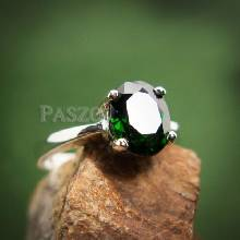 แหวนมรกต แหวนเงิน แหวนพลอยสีเขียว พลอยเม็ดเดี่ยว แหวนเงินแท้