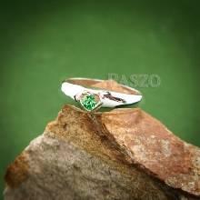 แหวนพลอยสีเขียว แหวนเงิน แหวนรูปหัวใจ พลอยสีเขียว แหวนมรกต แหวนขนาดเล็ก น่ารัก