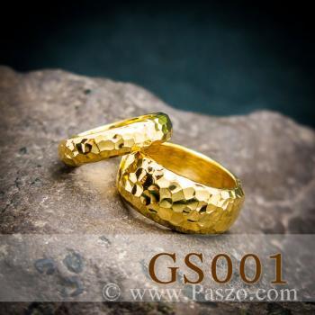 แหวนทองเกลี้ยง แหวนคู่ ตอกลายค้อนช่างทอง #8