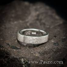 แหวนปัดด้าน หน้ากว้าง4มิล แหวนเงินแท้ แหวนเกลี้ยง