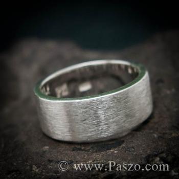 แหวนปัดด้าน หน้ากว้าง8มิล แหวนเงินแท้ #4
