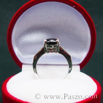 แหวนนิล แหวนเงินแท้ พลอยเม็ดเดี่ยว #4