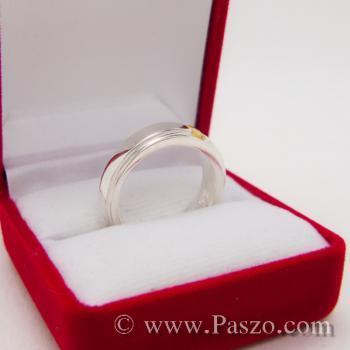 แหวนพลยสีเหลือง แหวนบุษราคัม แหวนลดระดับขอบ #4
