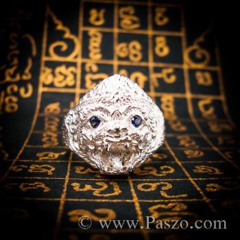 แหวนหนุมาน ฝังพลอยไพลิน พลอยสีน้ำเงิน #2