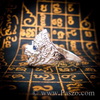 แหวนหนุมาน ฝังพลอยไพลิน พลอยสีน้ำเงิน #4