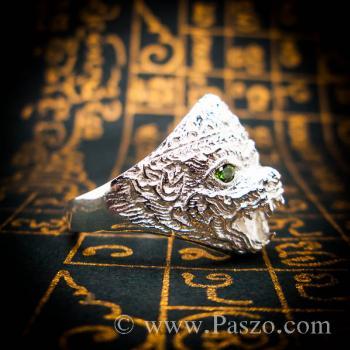 แหวนหนุมาน ฝังมรกต พลอยสีเขียว #4