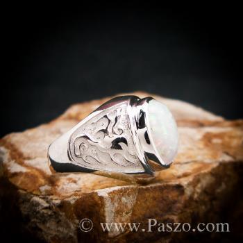 แหวนโอปอล แหวนผู้ชายเงินแท้ แหวนมังกร #2