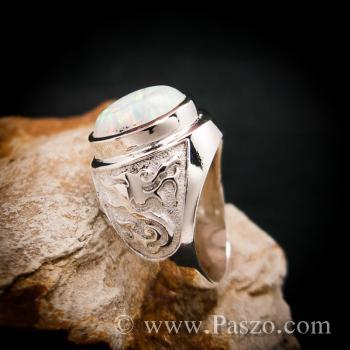 แหวนโอปอล แหวนผู้ชายเงินแท้ แหวนมังกร #3