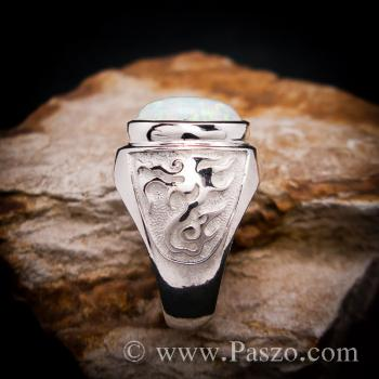 แหวนโอปอล แหวนผู้ชายเงินแท้ แหวนมังกร #4