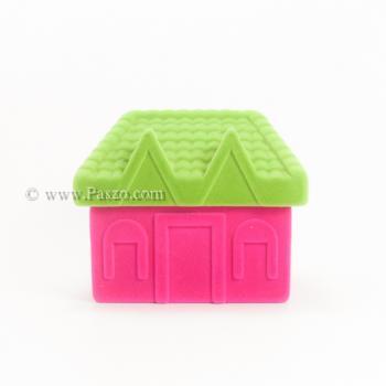 กล่องใส่แหวน รูปบ้าน หุ้มกำมะหยี่ #9