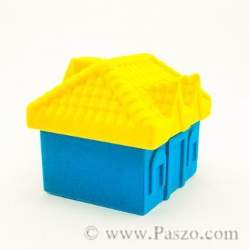 กล่องใส่แหวน รูปบ้าน หุ้มกำมะหยี่ #2