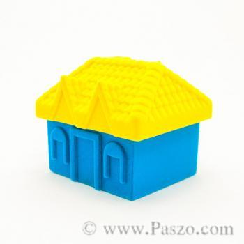 กล่องใส่แหวน รูปบ้าน หุ้มกำมะหยี่ #5
