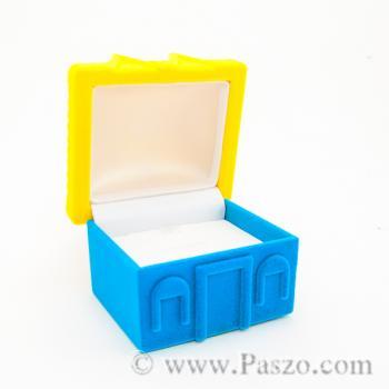 กล่องใส่แหวน รูปบ้าน หุ้มกำมะหยี่ #6