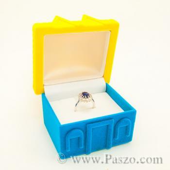 กล่องใส่แหวน รูปบ้าน หุ้มกำมะหยี่ #7