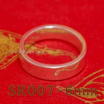 แหวนเกลี้ยงหน้าเรียบ กว้าง6มิล แหวนขอบตรง #3