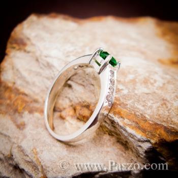 พลอยสีเขียว แหวนมรกต เม็ดกลม #3