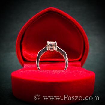 แหวนเพชร แหวนเพชรเม็ดเดี่ยว แหวนเงินฝังเพชร #5