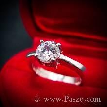 แหวนเพชร แหวนเพชรเม็ดเดี่ยว แหวนเงินฝังเพชร แหวนเงิน