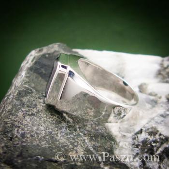 แหวนผู้ชายนิล แหวนผู้ชายเงินแท้ ฝังนิล #5