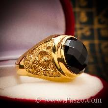 แหวนผู้ชายทอง แหวนครุฑ ฝังนิล แหวนทองแท้ แหวนนิลผู้ชาย