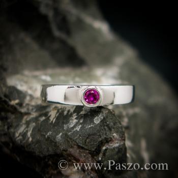 แหวนโกเมน แหวนพลอยโกเมน แหวนเงิน #2