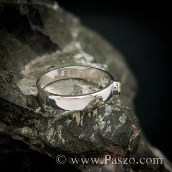 แหวนพลอยสีเหลือง แหวนบุษราคัม แหวนเงินแท้ #3