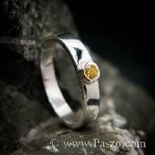 แหวนพลอยสีเหลือง แหวนบุษราคัม แหวนเงินแท้