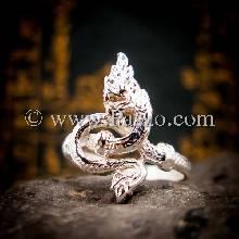 แหวนพญานาค แหวนเงินแท้ พญานาค งูใหญ่ แหวนปีมะโรง ขดรอบพันนิ้ว